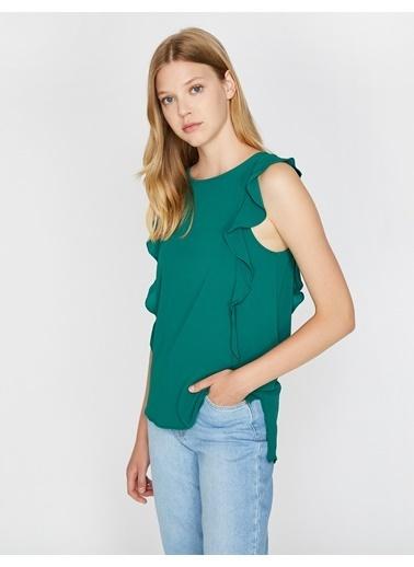 Koton %97 Polyester, %3 Elastan Yeşil